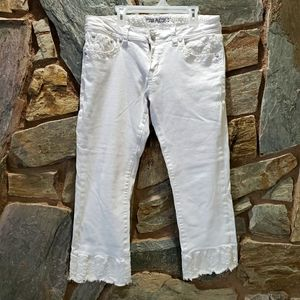 Grace in LA White Denim Capris sz 30
